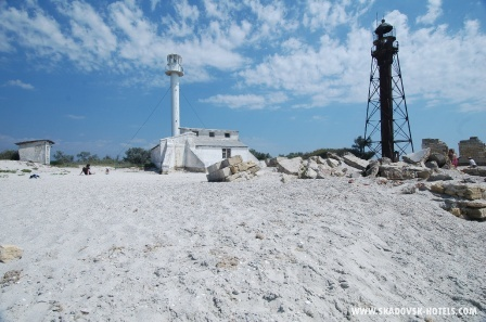 Остров Джарылгач маяки