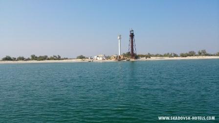 Остров Джарылгач - чарующий вид с моря